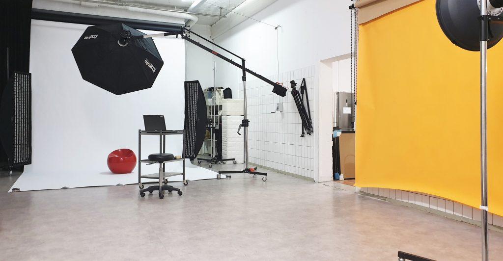Mietstudio Fotoshooting-Bereich