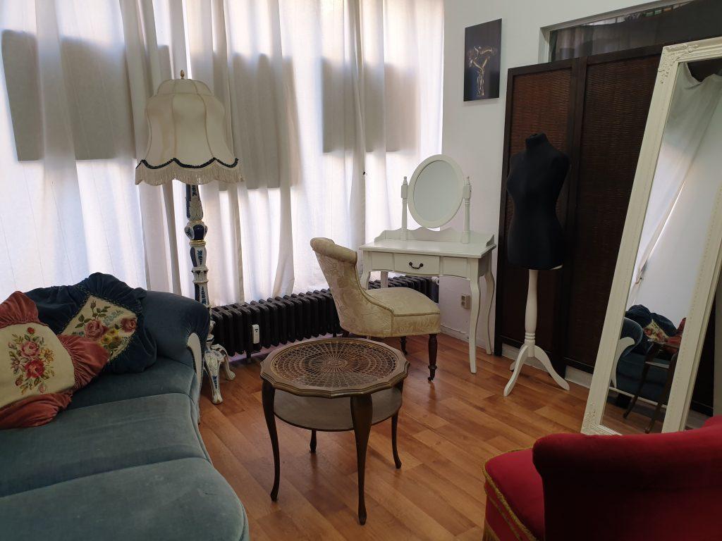 Der Umkleidebereich im Studiobereich 2